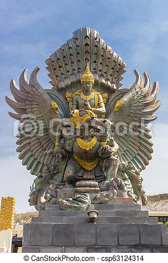 Statue At The Entrance Of The Garuda Wisnu Kencana Cultural Park On