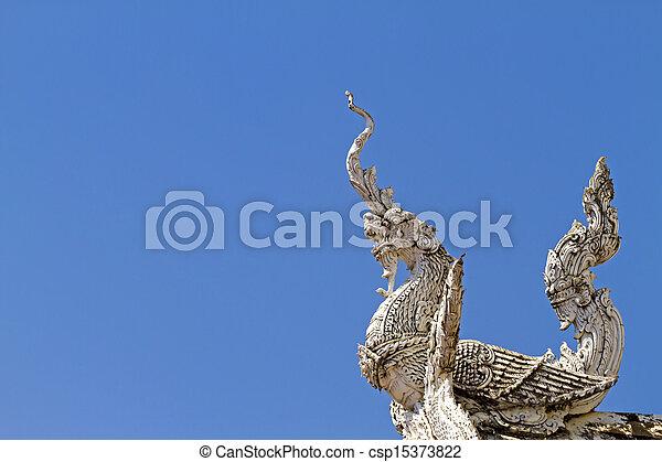 Statue bird dragon - csp15373822