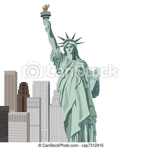 statue, freiheit - csp7312415