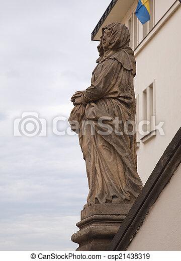 Statue in Prague - csp21438319
