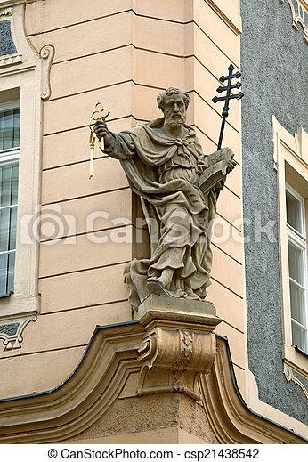 Statue in Prague - csp21438542