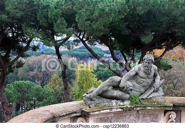 statue in Villacelimontana , Rome - csp12236863