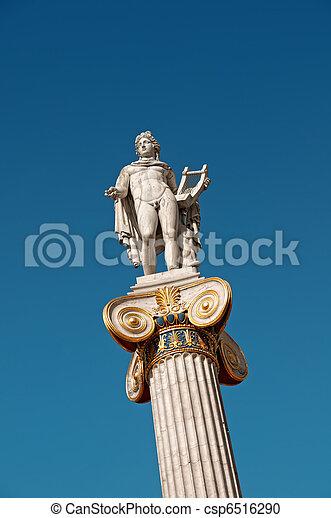 Statue of Apollo in Athens - csp6516290