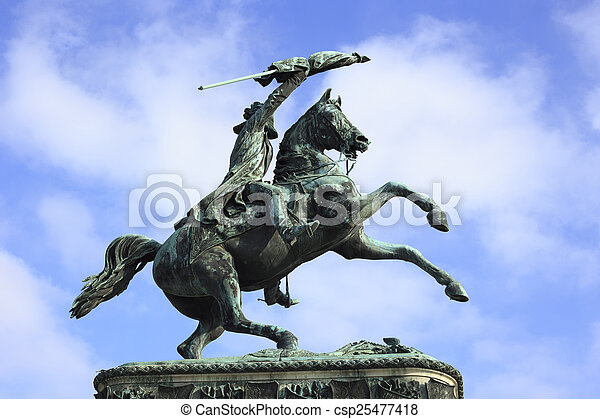 Statue of Archduke Charles - csp25477418