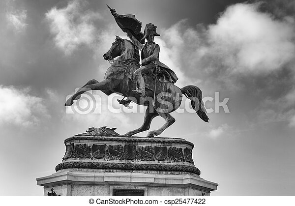 Statue of Archduke Charles - csp25477422