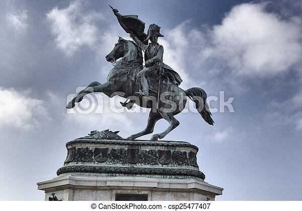 Statue of Archduke Charles - csp25477407