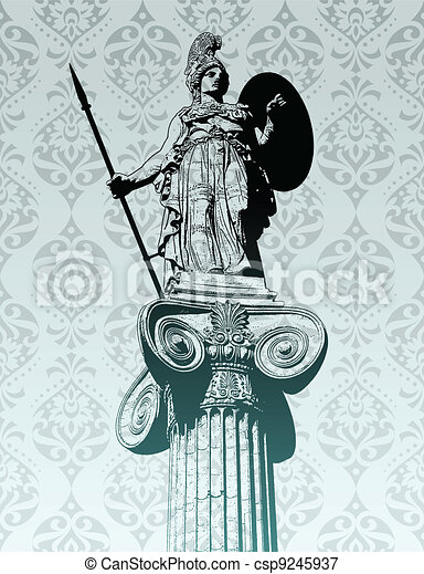 Statue of Athena - csp9245937