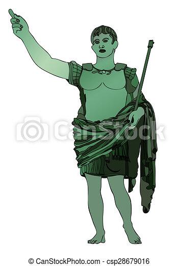 statue of emperor gaius julius caesar illustration clipart rh canstockphoto com julius caesar clipart for kids Real Pictures of Julius Caesar