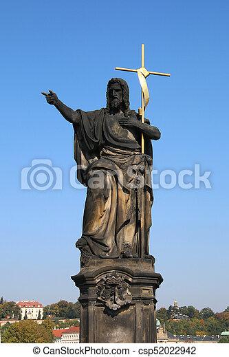 Statue of John the Baptist - csp52022942