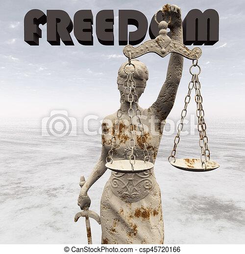 Statue of justice, Law concept, Temida - Themis 3d rendering - csp45720166