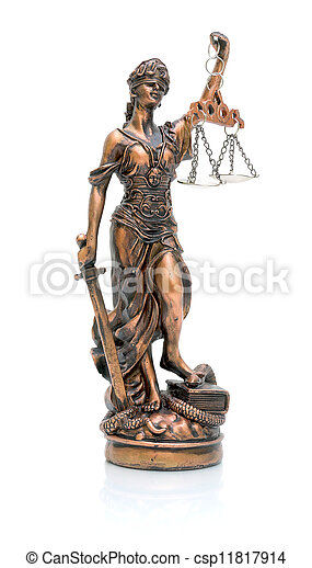 statue of justice on a white background - csp11817914