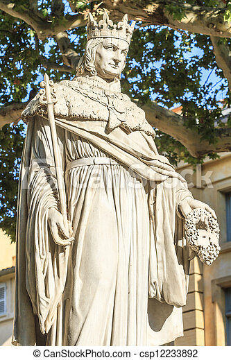 Statue of King Rene of Anjou, Aix-en-Provence - csp12233892