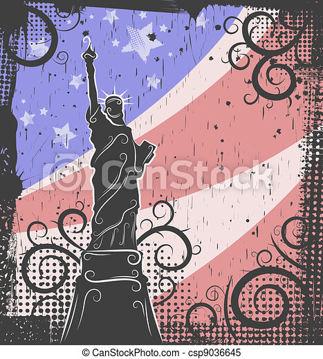 Statue of Liberty background - csp9036645