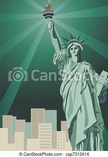 Statue of Liberty  - csp7312414