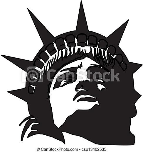 Statue of Liberty in Vector - csp13402535