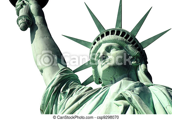 Statue of Liberty Isoalted on White - csp9298070