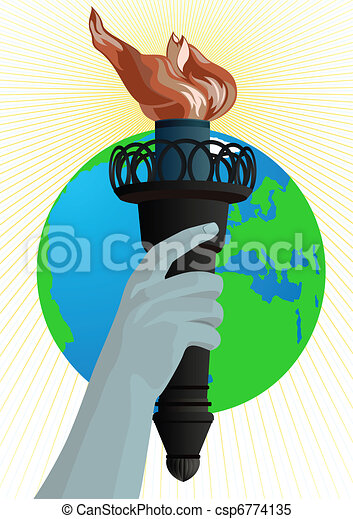 Statue of Liberty torch - csp6774135