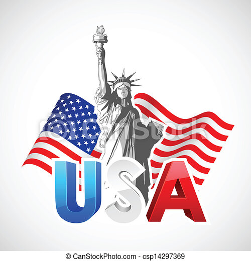 statue of liberty with american flag illustration of statue clip rh canstockphoto com clipart of lady liberty clipart statue of liberty free