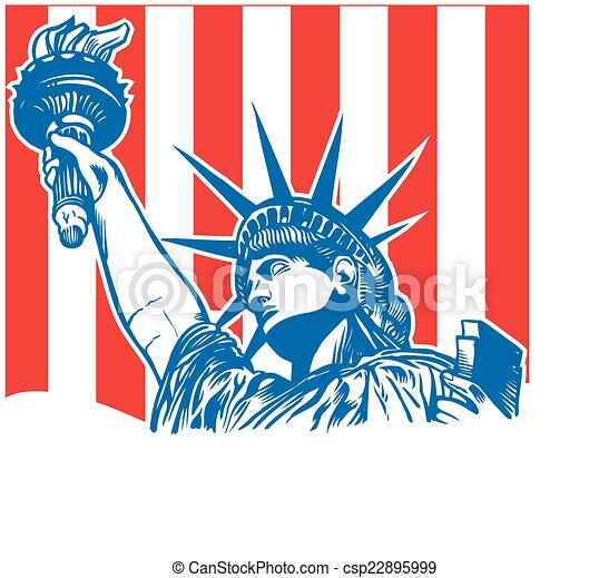 statue of liberty with torch - csp22895999