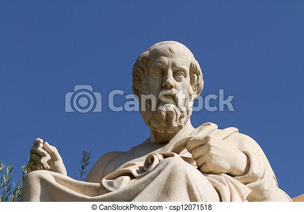 Statue of Plato in Greece - csp12071518
