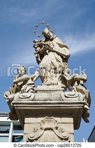 Statue of St. John Nepomucene in Poznan - csp26513725