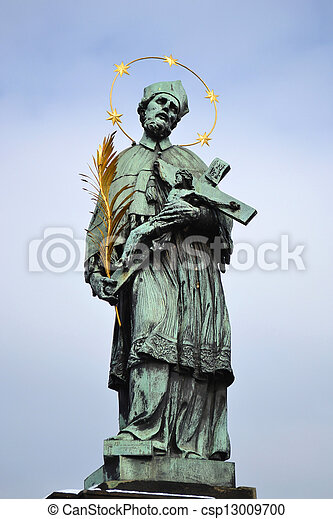 Statue of St. John of Nepomuk - csp13009700