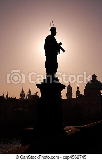 statue of St John - csp4562745