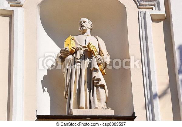 Statue of St Peter - csp8003537