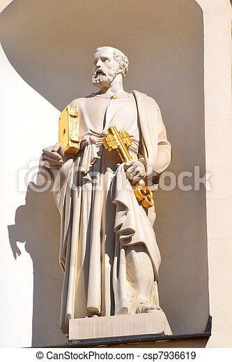 Statue of St Peter - csp7936619