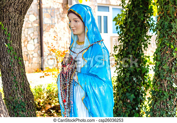 Statue of the Blessed Virgin Mary - csp26036253
