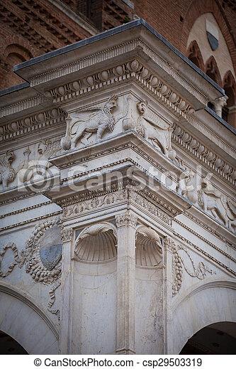 Statue of the Cappella di Piazza - csp29503319