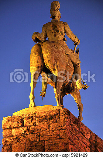 Statue on the square - csp15921429