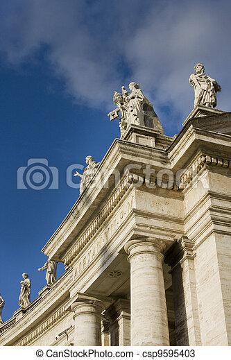 Statues at the Vatican - csp9595403
