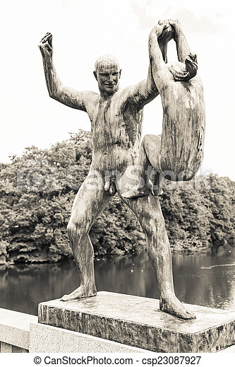 Statues in Vigeland park, Oslo - csp23087927