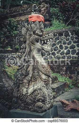 Statues of Hindu God or demon - csp69376003