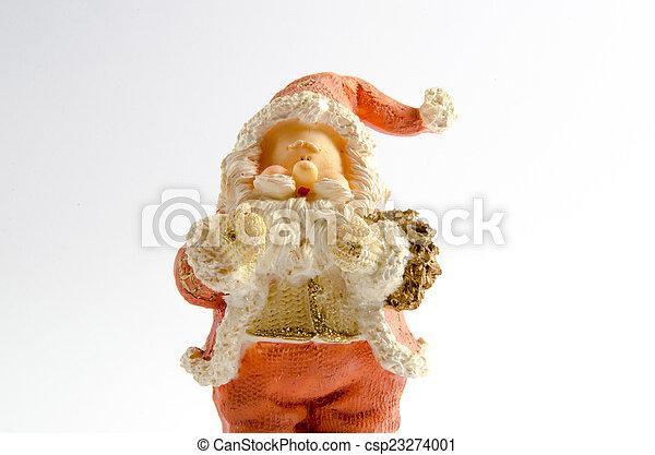 Statuette of Santa Claus - csp23274001