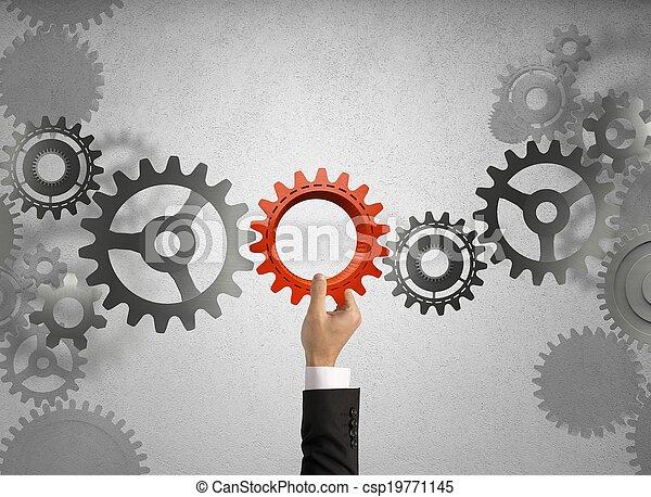 stavět, povolání, systém - csp19771145