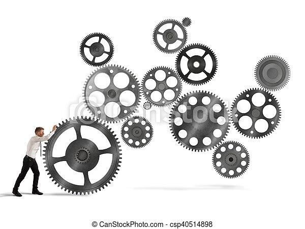 stavět, povolání, systém - csp40514898