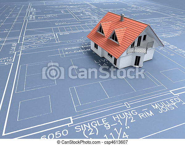 stavebnictví plánování - csp4613607