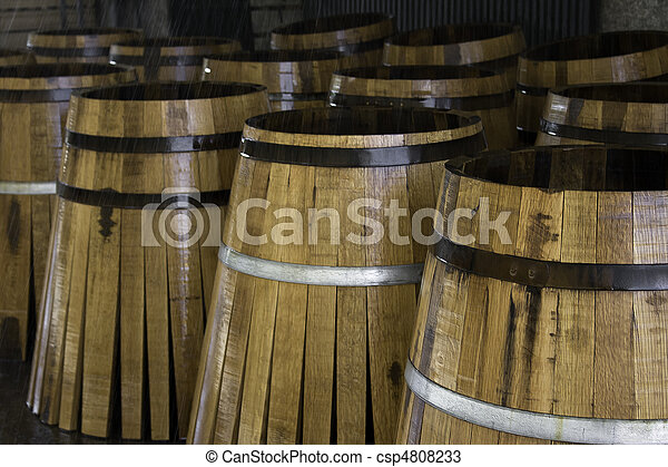Staves in barrels manufacturing - csp4808233