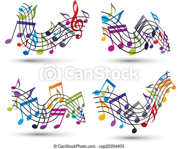 staves., notas, música - csp22354403