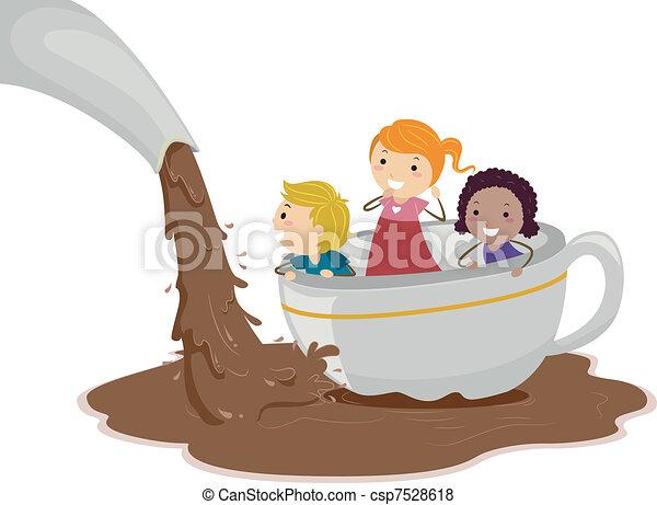 staw, czekolada - csp7528618