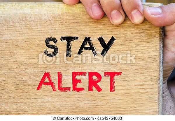 Stay alert text concept - csp43754083