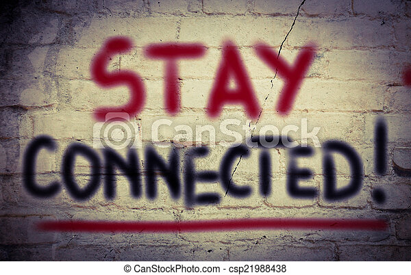Stay Connected Concept - csp21988438