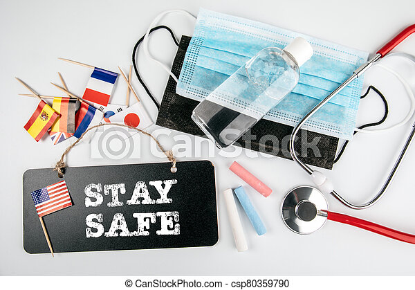 Stay Safe. Health crisis in the United States - csp80359790