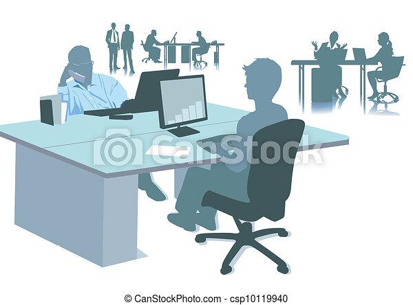 Lavoro Ufficio Clipart : Stazioni lavoro ufficio