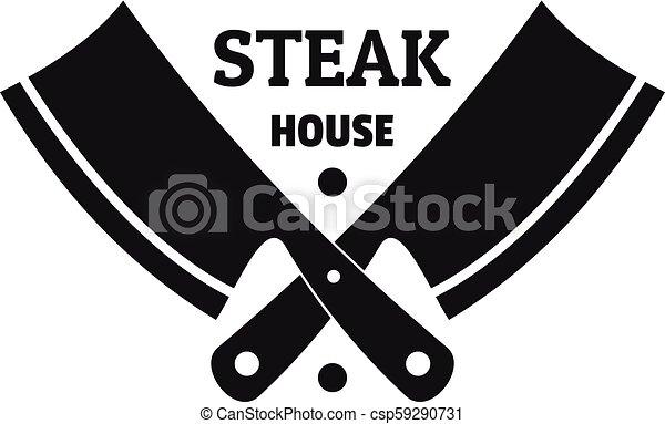 Steak house logo, simple style - csp59290731