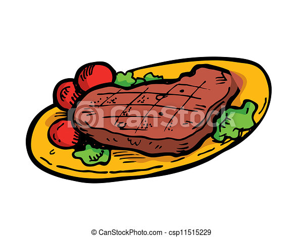 steak on a plate doodle vector illustration search clipart rh canstockphoto ca steak clipart black and white streak clip art free