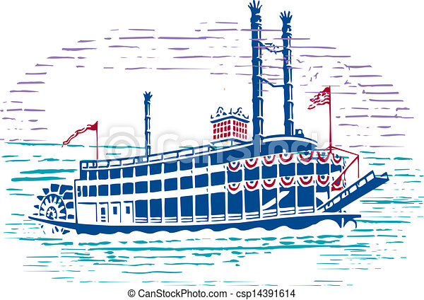 Very Nice Design Of Simple Drawing Mississippi Paddle Wheel Steam Boat