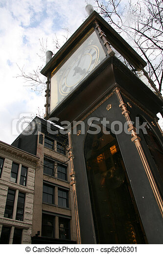 Steam Clock - Gastown, Vancouver, BC, Canada - csp6206301